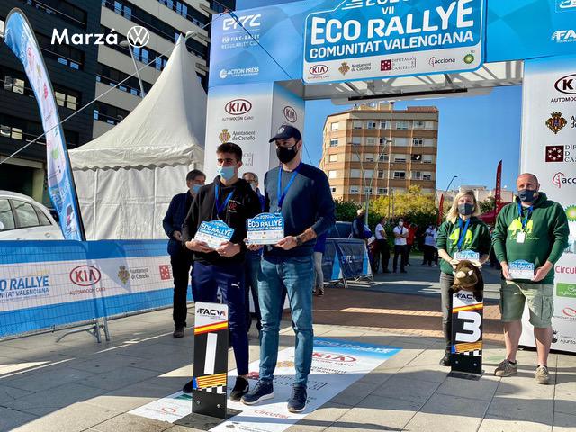 Marzá campeones FIA E-Rallye en el ECO Rallye Comunitat Valenciana · premio